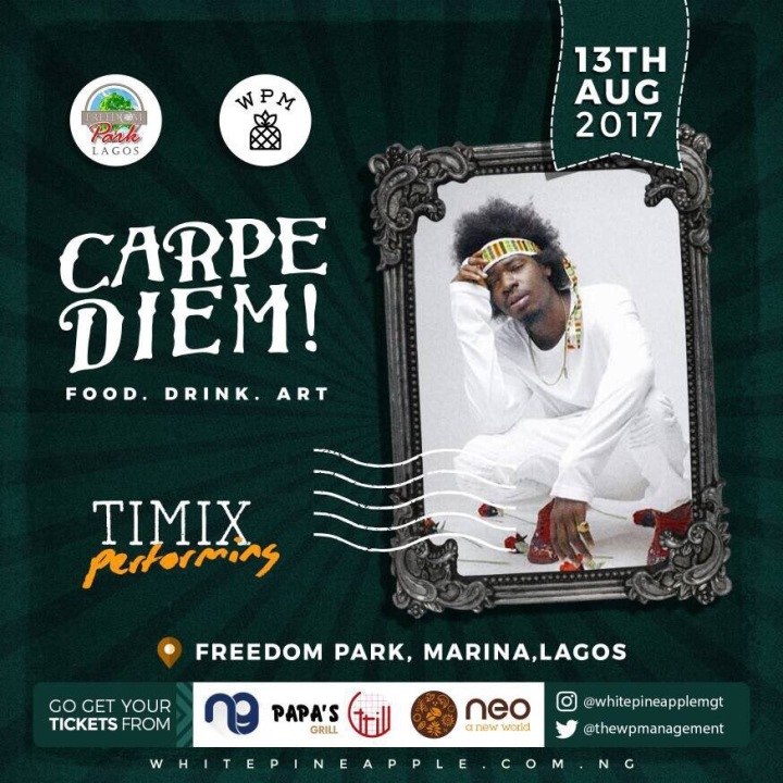 Timix - Carpe Diem! Freedom Park Food . Drink . Art