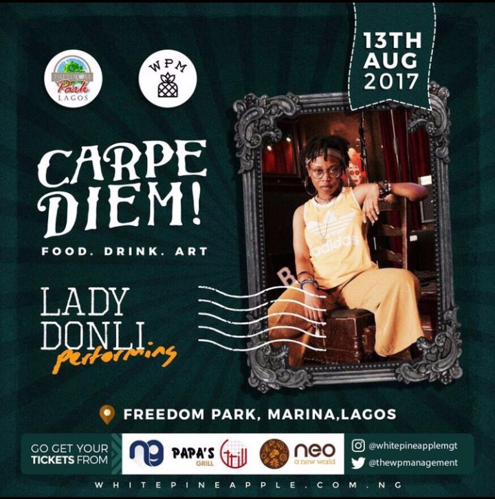Lady Donli - Carpe Diem! Freedom Park Food . Drink . Art
