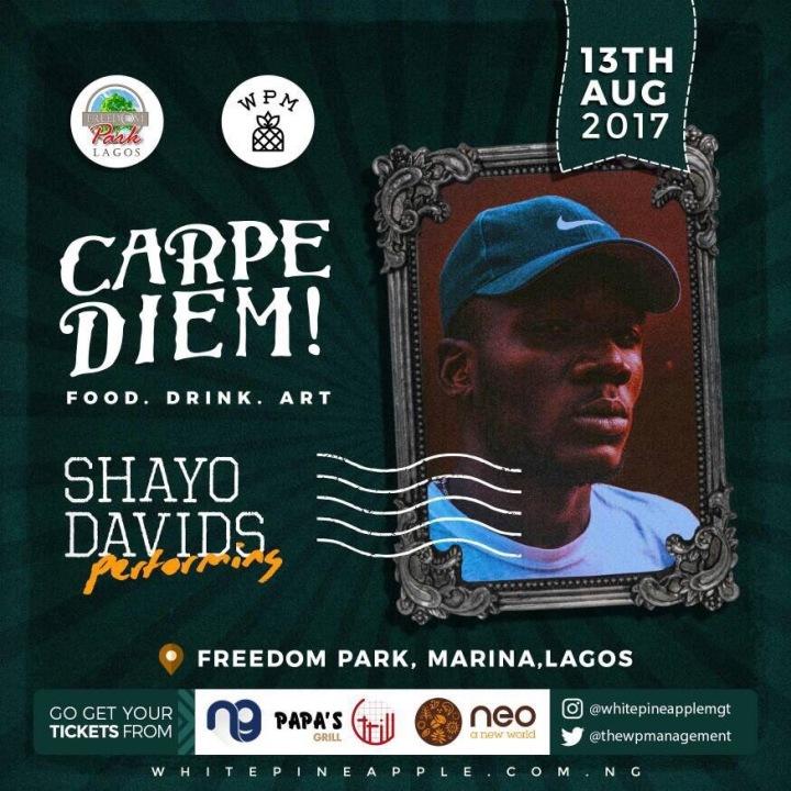 Shayo Davids -- Carpe Diem! Freedom Park Food . Drink . Art