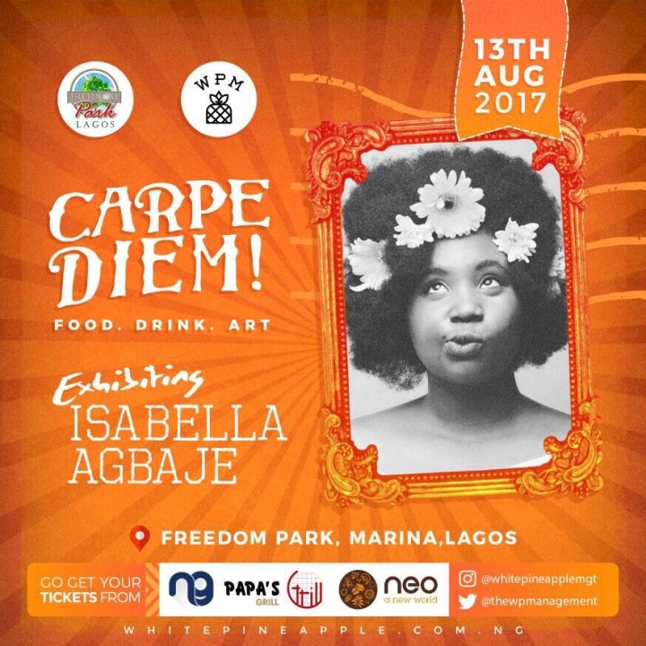 Isabella Agbaje -- Carpe Diem! Freedom Park Food . Drink . Art