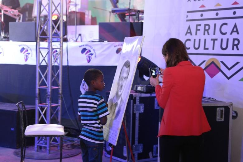 11 year old artist, Kareem Olamilekan..